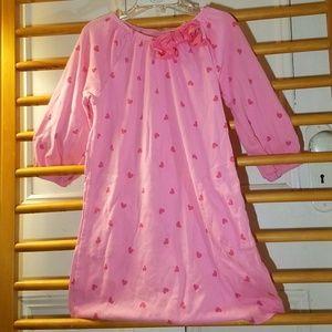 Gymboree Pink Heart Dress 7 Girl Pockets Bow Cute